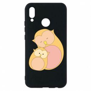 Etui na Huawei P20 Lite Mom owl and baby owl
