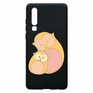Etui na Huawei P30 Mom owl and baby owl