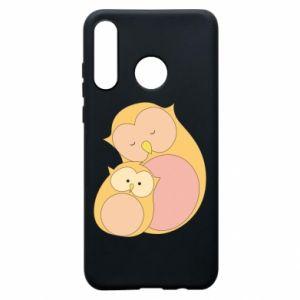 Etui na Huawei P30 Lite Mom owl and baby owl
