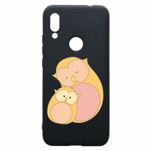 Etui na Xiaomi Redmi 7 Mom owl and baby owl