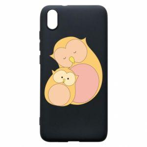 Etui na Xiaomi Redmi 7A Mom owl and baby owl
