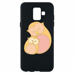 Etui na Samsung A6 2018 Mom owl and baby owl