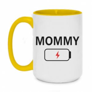 Two-toned mug 450ml Mommy charge