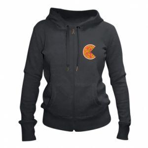 Women's zip up hoodies Mommy pizza - PrintSalon