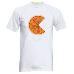 Men's sports t-shirt Mommy pizza - PrintSalon