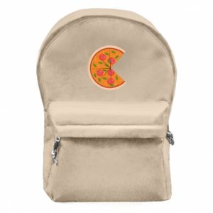 Backpack with front pocket Mommy pizza - PrintSalon