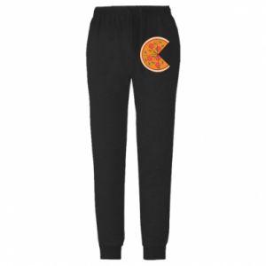 Męskie spodnie lekkie Mommy pizza - PrintSalon