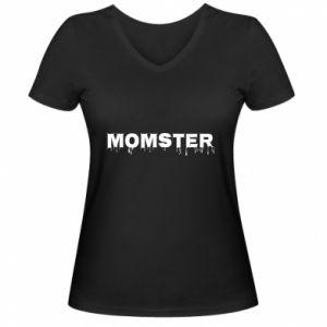 Damska koszulka V-neck Momster