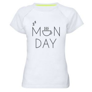 Women's sports t-shirt Monday