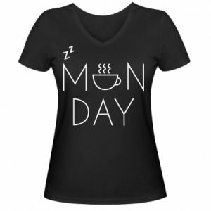 Damska koszulka V-neck Monday