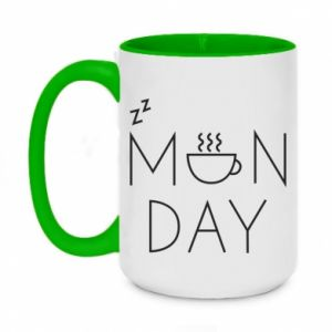 Two-toned mug 450ml Monday