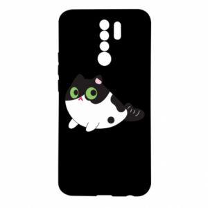 Xiaomi Redmi 9 Case Monochrome mermaid cat