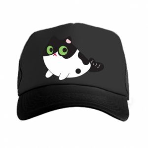 Czapka trucker Monochrome mermaid cat