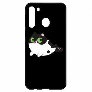 Etui na Samsung A21 Monochrome mermaid cat