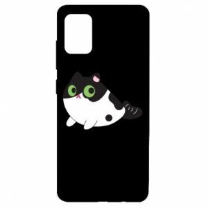 Etui na Samsung A51 Monochrome mermaid cat