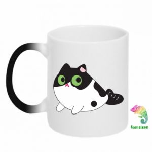 Chameleon mugs Monochrome mermaid cat