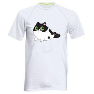 Koszulka sportowa męska Monochrome mermaid cat