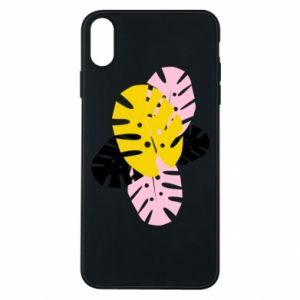 Phone case for iPhone Xs Max Monstera leaves