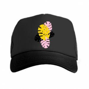Trucker hat Monstera leaves