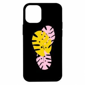 Etui na iPhone 12 Mini Monstera leaves