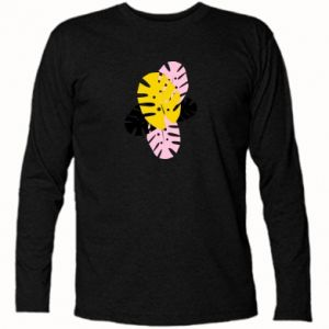 Koszulka z długim rękawem Monstera leaves - PrintSalon