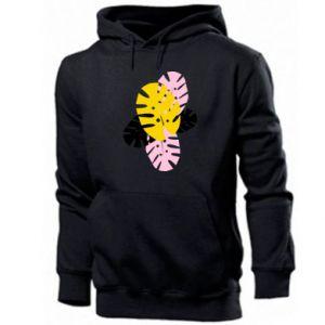Men's hoodie Monstera leaves