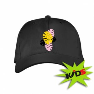 Kids' cap Monstera leaves
