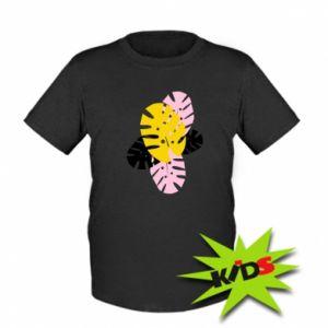 Kids T-shirt Monstera leaves