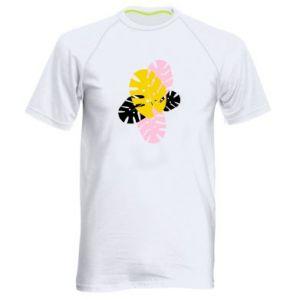 Men's sports t-shirt Monstera leaves