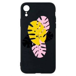 Phone case for iPhone XR Monstera leaves