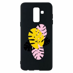 Phone case for Samsung A6+ 2018 Monstera leaves