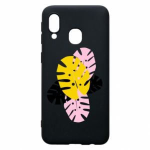 Phone case for Samsung A40 Monstera leaves