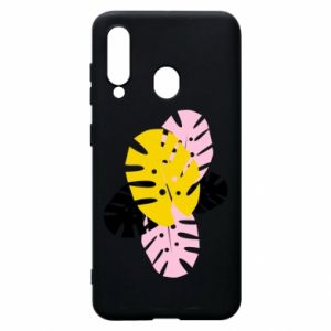 Phone case for Samsung A60 Monstera leaves