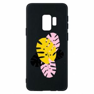 Phone case for Samsung S9 Monstera leaves