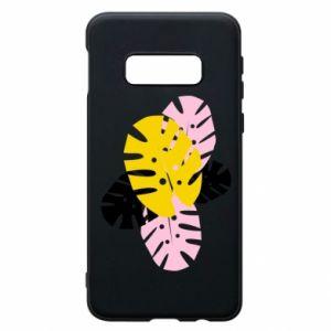 Phone case for Samsung S10e Monstera leaves