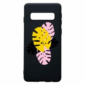 Phone case for Samsung S10 Monstera leaves