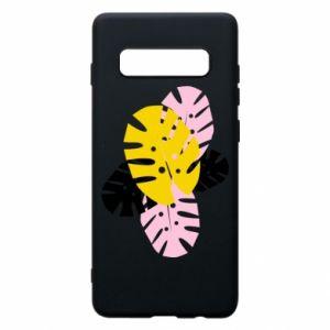 Phone case for Samsung S10+ Monstera leaves