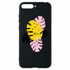 Phone case for Huawei Y6 2018 Monstera leaves