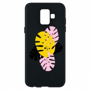 Phone case for Samsung A6 2018 Monstera leaves