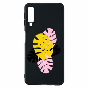 Phone case for Samsung A7 2018 Monstera leaves