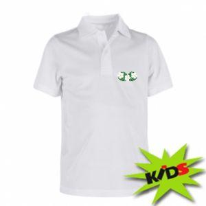 Children's Polo shirts Monstera with flowers - PrintSalon
