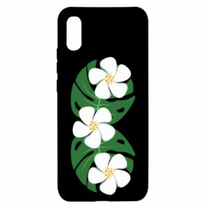 Xiaomi Redmi 9a Case Monstera with flowers