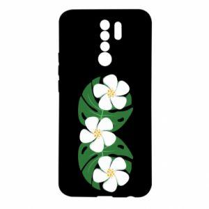 Etui na Xiaomi Redmi 9 Monstera z kwiatami