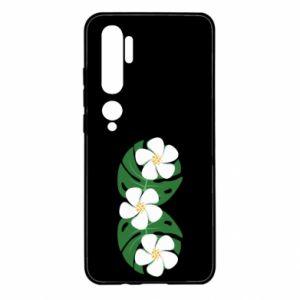 Etui na Xiaomi Mi Note 10 Monstera z kwiatami