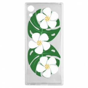Etui na Sony Xperia XA1 Monstera z kwiatami
