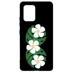 Etui na Samsung S10 Lite Monstera z kwiatami