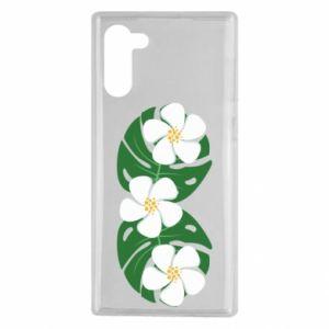 Etui na Samsung Note 10 Monstera z kwiatami