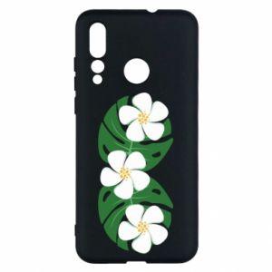 Etui na Huawei Nova 4 Monstera z kwiatami