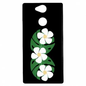 Etui na Sony Xperia XA2 Monstera z kwiatami