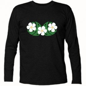 Long Sleeve T-shirt Monstera with flowers - PrintSalon
